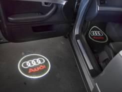 3D LED эмблемы в двери Audi