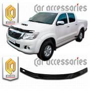 Дефлектор капота. Toyota Hilux Pick Up, KUN25L, KUN26L, 2012 Двигатели: 2KDFTV, 1KDFTV