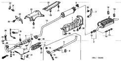 Выхлопная труба. Honda Civic Ferio, ES1 Двигатель D15B