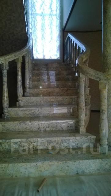 Столешницы лестницы из натурального камня полировка мрамор гранит