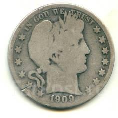 США 50 центов 1909 Серебро