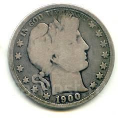 США 50 центов 1900 Серебро