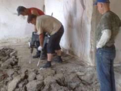 Снос стен, перегородок, демонтаж полов, плитки