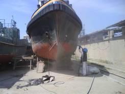 Очистка корпуса судна.