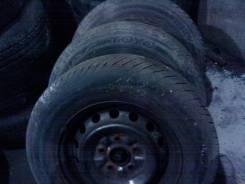 3 колеса лето 195/70R14 Toyo на штампованных дисках