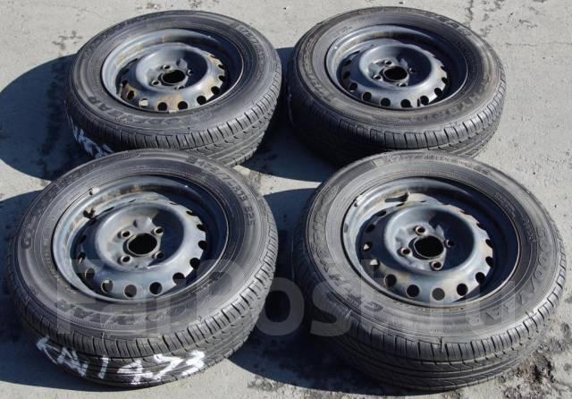 Комплект летних колес GoodYear GT-Hybrid 175/70R13 на железных дисках. 5.0x13 4x100.00 ЦО 57,0мм.