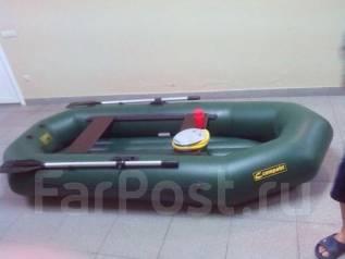 Гребная лодка 270 с надувным полом новая. длина 2,70м.