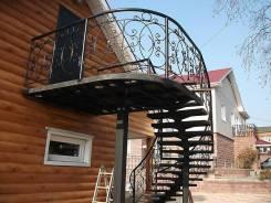 Лестницы, балконы, заборы, ворота, все виды металлоконструкций