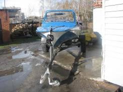 Казанка. длина 4,50м., двигатель подвесной, бензин
