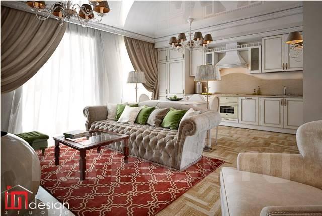"""Современная интерпретация классики от Студии """"Ин Дизайн"""". Тип объекта квартира, комната, срок выполнения 3 месяца"""