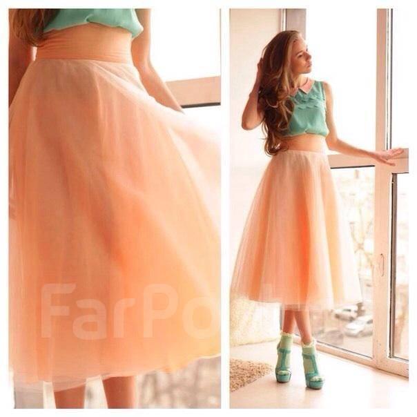Персикового цвета юбки фото