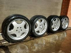 Продам оригинальные разноширокие диски AMG с летними шинами R18. 9.0x18 5x112.00