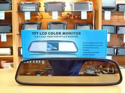 """Зеркало заднего вида со встроенным монитором 4.3"""" (2 Входа)Гарантия!"""