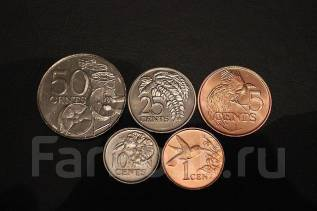 Тринидад и Тобаго. набор монет 5 шт.