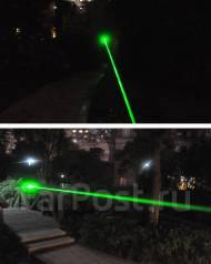 Мощный зеленый лазер. Жгет спички, режет пакет. Целеуказатель