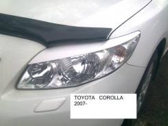 Накладка на фару. Toyota Corolla, ZZE150, NDE150, ADE150, NRE150 Двигатели: 4ZZFE, 1NDTV, 1ADFTV, 1NRFE