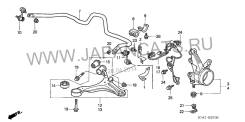 Сайлентблок. Honda: Civic Hybrid, Civic Ferio, Civic, CR-V I-CTDI, Stream, CR-V, Edix, Integra, FR-V Двигатели: LDA1, D17A2, D17A8, D14Z6, D17Z1, D15Y...