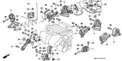 Сайлентблок. Honda Ascot Innova, E-CB3, E-CB4 Honda Accord, E-CB1, E-CB2, E-CB3, E-CB4 Honda Ascot, E-CB4, E-CB3, E-CB2, E-CB1 Двигатели: F20A2, F20A3...