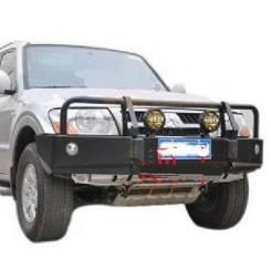 Силовые бампера. Mitsubishi Pajero, V78W, V63W, V65W, V60, V77W, V73W, V75W, V68W Двигатели: 4M41, DI, 6G72, 6G74, 6G75, GDI. Под заказ