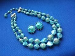 Винтажный комплект ожерелье клипсы,1950 года, США