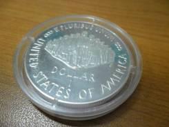 Юбилейная, серебряная монета номиналом 1 доллар США,1987S