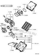 Фильтр воздушный. Mitsubishi: L400, L200, Delica Space Gear, Nativa, GTO, Pajero Sport, Pajero, Montero, Montero Sport