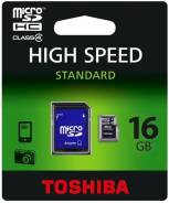 MicroSDHC. 16 Гб, интерфейс MicroSDHC