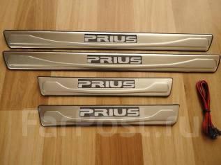 Накладка на порог. Toyota Prius