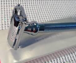 Бритва Parker evolution, хром, сатинированный, бабочка, ручка тяжёлая. Под заказ