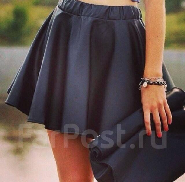 Кожаные юбки колокольчики
