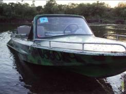 Продам лодку ОБЬ Шилка. 1984 год, двигатель подвесной, бензин