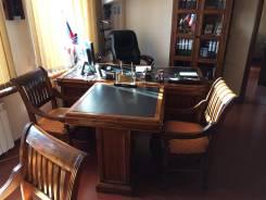 Кабинет | Стол для Руководителя - Натуральное дерево. Кожа. 100% Ручна