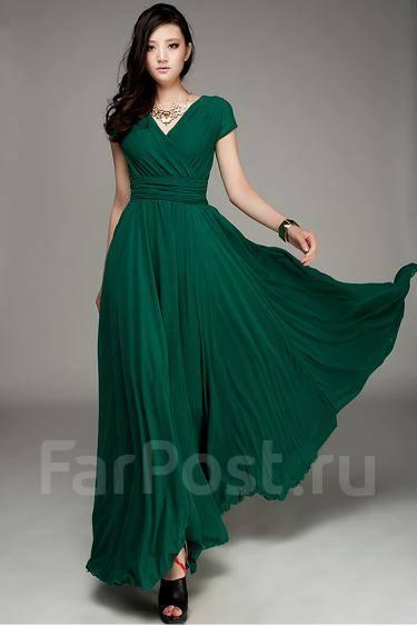 Зеленое коктейльное платье купить