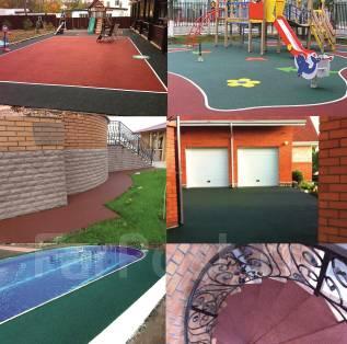 Резиновое покрытие для спортивных и детских площадок, лестниц