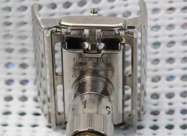 Бритва Gillette-1963 г, USA, бабочка, 9-ти позиционная, родий покрытие. Под заказ
