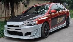 Обвес кузова аэродинамический. Mitsubishi Lancer X Mitsubishi Lancer