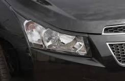 Накладки на передние фары (реснички) 2 шт. Chevrolet Cruze 2009-. Chevrolet Cruze. Под заказ
