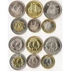 Набор монет 6 шт. парусники 2012год , Басас да Индия. Под заказ