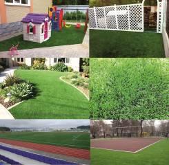 Трава искусственная для спорта, отдыха, ландшафта. Поставка и укладка.