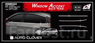 Молдинг стекла. Hyundai Solaris