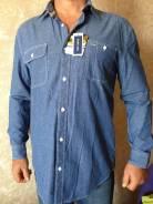 Рубашки джинсовые. 54