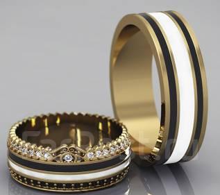 Обручальные кольца , помолвочные кольца. Белые и черные бриллианты.