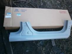 Порог пластиковый. Hyundai Solaris