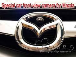 Камера переднего вида в логотип Mazda.
