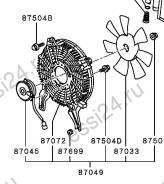 Вентилятор радиатора кондиционера. Mitsubishi Pajero Двигатель 4M41