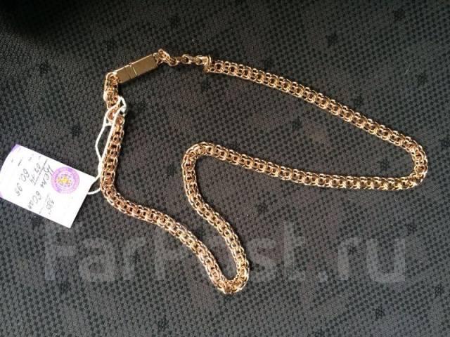 фото цепь золотая плетение бисмарк