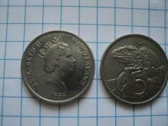 5 центов Новая Зеландия