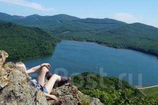 "Конная прогулка ""Скала ""Роза ветров"" с видом на лесное озеро. Седанка"