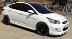 Обвес кузова аэродинамический. Hyundai Solaris