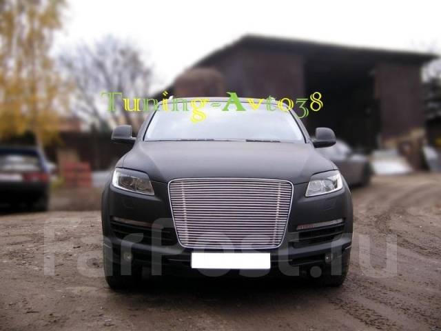 Молдинг решетки радиатора. Audi Q7, 4LB Двигатели: BAR, BHK, BTR, BUG. Под заказ
